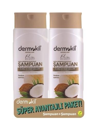 Dermokil Dermokil Hindistan Cevizi+Hindistan Cevizi Şampuan-2'li Avantajlı Set- 400 ml Renksiz